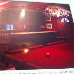 Pool table. I photographed this from a real estate office window on my research trip to Lake Arrowhead. I don't know if it was the red cast to the photo that influenced its inclusion in SWERVE or if it was just my imagination. I prefer to think the former. #swerve