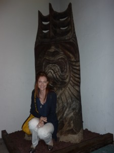 For scale, I posed in front of the tiki god guarding the door. No animal sacrifice necessary to enter.